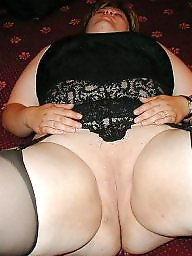 Spreading, Spread, Bbw stockings, Bbw spread, Shaved, Bbw stocking