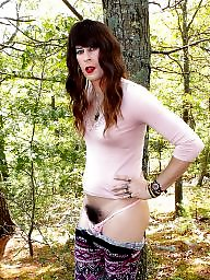 Crossdresser, Crossdress, Crossdressers, Flash, Naked, Wood