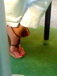 Candid, Candid feet, Milf feet