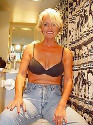 Strip, Blonde mature, Stripping, Mature blond
