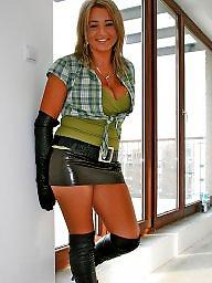 Leather, Skirt, Tights, Tight skirt, Leather skirt, Skirts