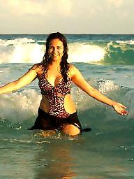Beach, Mexico, Beach voyeur, Beach tits, Amateur big tits