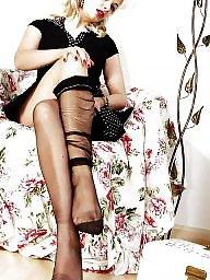Nylon, Upskirt stockings, Nylons, Ladies