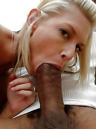 Ebony blowjob, Interracial blowjob