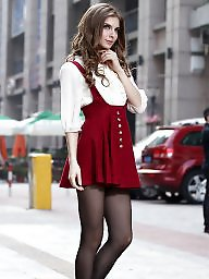 Nylon, Street, Nylons, Upskirt stockings