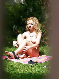 Voyeur, Caught, Sunbathing, Nudes