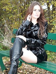 Leather, Boots, Milf in leather