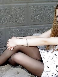 Teen stockings, Teen pantyhose, Hot teen