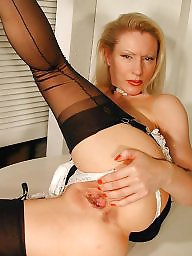 Maid, Nylon, Mature nylon, Nylons, Older, Vintage mature
