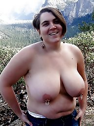 Matures, Mature big tits, Mature flashing, Flashing tits, Outside, Flashing mature