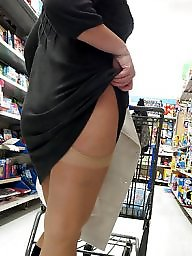 Shopping, Flashing, My wife, Upskirt milf, Milf upskirt