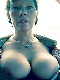 Mature, Granny, Big boobs, Boobs, Flash, Flashing