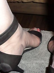 Heels, High heels, Grey, Milf stockings, Milf stocking