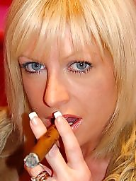 Smoking, Blonde mature, Mature blond, Mature blonde, Smoke, Blond mature