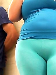 Voyeur, Curvy, Spanish, Tight, Tights, Candid ass