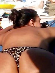 Ass, Bikini, Beach, Big ass, Voyeur, Hidden