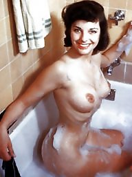 Bath, Lady, Vintage amateur, Bathing