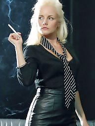 Smoking, Smoke, Blonde mature, Mature brunette, Mature smoking, Mature blond