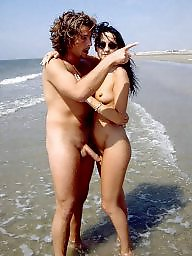 Caught, Nude beach, Nude, Erection, Voyeur beach, Beach voyeur