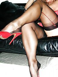 Red, Stocking milf, Milf upskirts