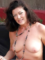 Sexy mature, Strip, Garden, Milfs