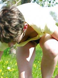 German, German milf, Outdoors, Public voyeur, German amateur, Public nudity