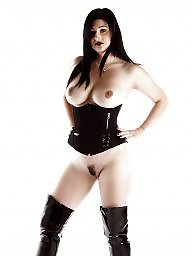 Latex, Boots, Corset, Corsets, Brunette, Boot