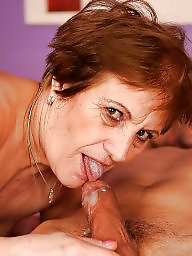 Mommy, Mature blowjob, Dirty, Sucking, Cocks, Mature suck