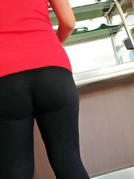 Spandex, Hidden cam, Nice ass