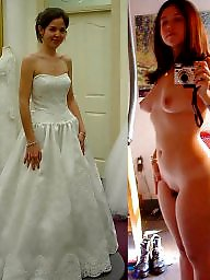 Dress, Bride, Wedding, Before and after