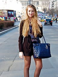 Upskirt, Nylon, Nylons, Upskirts, Stockings, Street