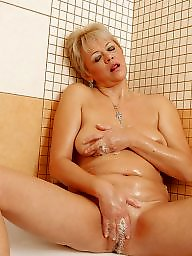 Shower, Bath, Mature shower, Bathing, Hot mature, Mature bath