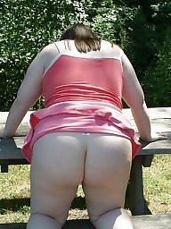 Bbw upskirt, Pink