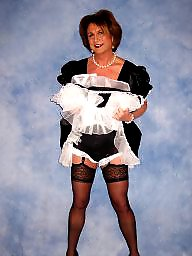 Satin, Stocking, Maid, Maids, Black amateur