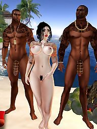Interracial cartoon, Interracial cartoons, Sex cartoons, Group cartoon, Group beach, Cartoon sex
