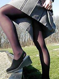 Upskirt, Stockings, Lady, Upskirt stockings, Ladies