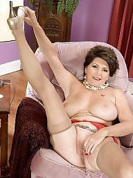 Mature, Boobs, Stockings mature, Mature stocking, Big mature