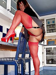 Kitchen, Pose, Mature stocking, Mature in stockings