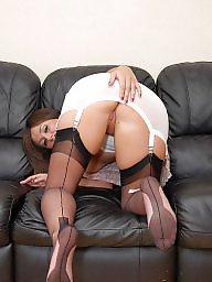 Girdle, Flash, Open, Flashing stockings, Bottom