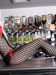 Bar, Whore, British milf, British amateur