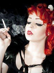 Smoking, Red, Pink, Smoke