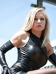 Leather, Femdom, Black, Gloves, Mini dress, Dressing