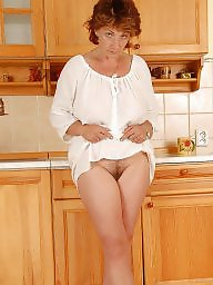Kitchen, Mature posing, Mature boobs, Boobs, Posing, Hairy milf