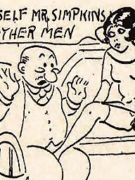 Cartoon, Comix, Vintage amateur
