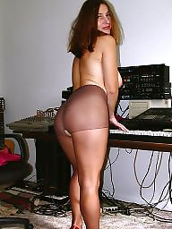 Pantyhose, Mature pantyhose, Older, Strip, Stripping, Older mature