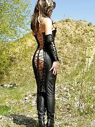Latex, Leather, Milf upskirts, Milf in leather