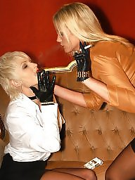Latex, Smoking, Smoke, Nylon stockings, Milf lesbian