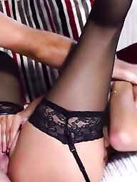 Stockings, Stocking sex, Sensual, Black tits