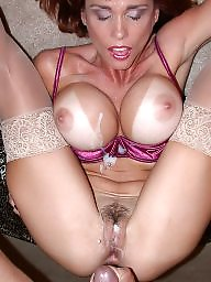 Big cock, Swallow, Suck, Sucking, Big cocks, Busty milf