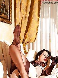Lady, Upskirt stockings, Sexy lady